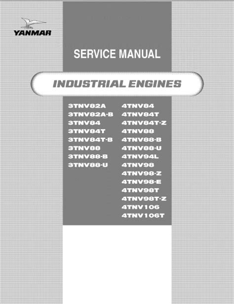 Download Yanmar Industrial Engine 3TNV 4TNV Series Service