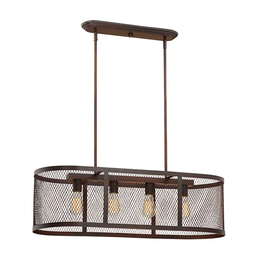 Shop Millennium Lighting Akron 36in W 4Light Rubbed Bronze Kitchen Island Light at Lowes.com