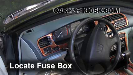 Interior Fuse Box Location: 1994-1997 Honda Accord - 1996 ...