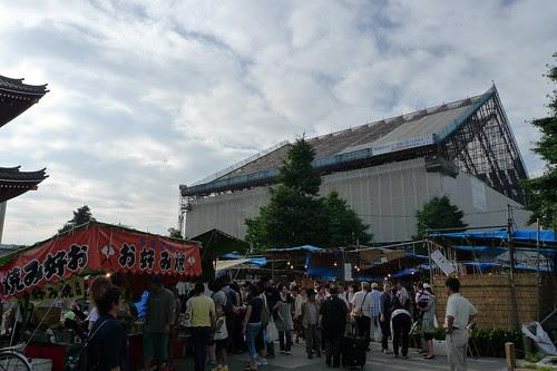 Main hall of Senso-ji is under renovation 3