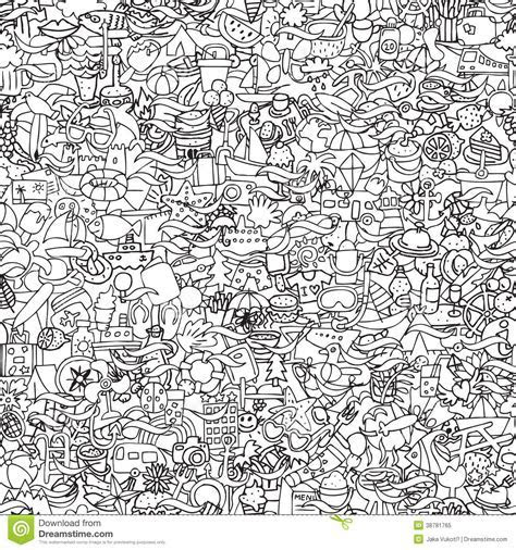 Holidays Seamless Pattern In Black And White Stock