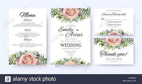Wedding Invitation, floral invite card Design: garden