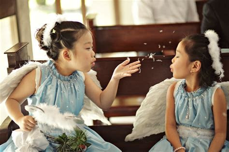 Flower girls and ring and bible bearers