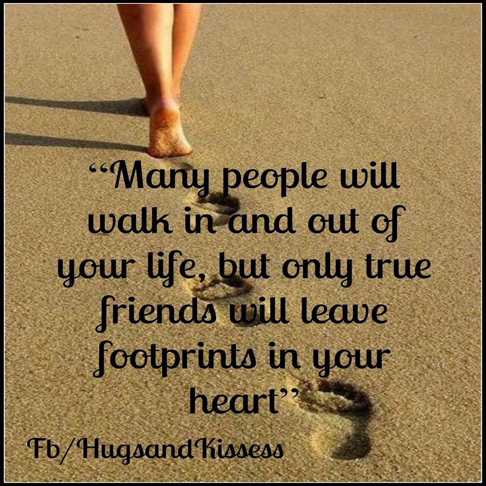 True Friends Will Leave Footprints In Your Heart Pictures Photos