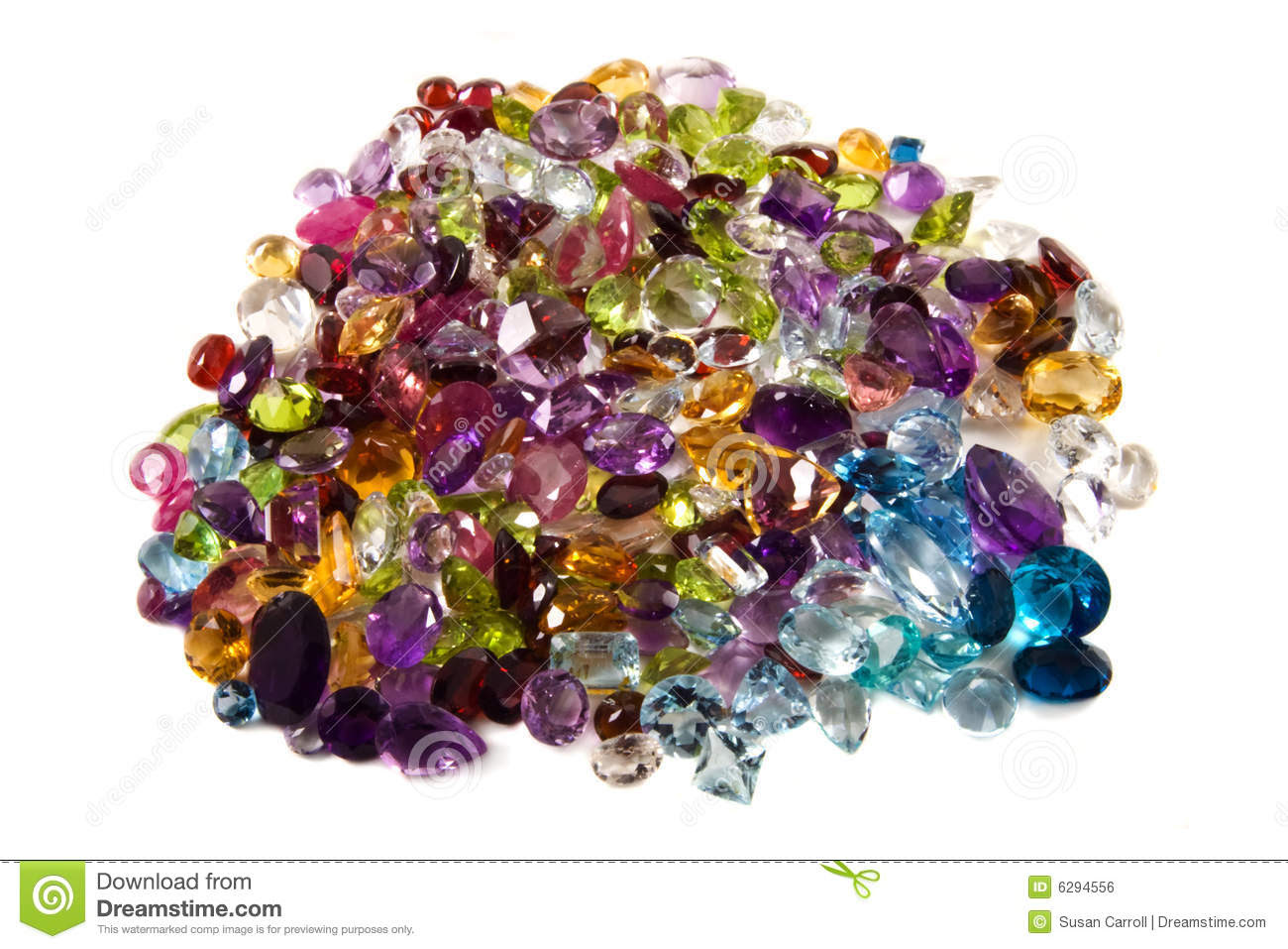 Pile Of Loose Gemstones Royalty Free Stock Image - Image ...