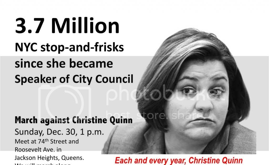Nyc News Analysis Christine Quinn And Stop And Frisk How Am I