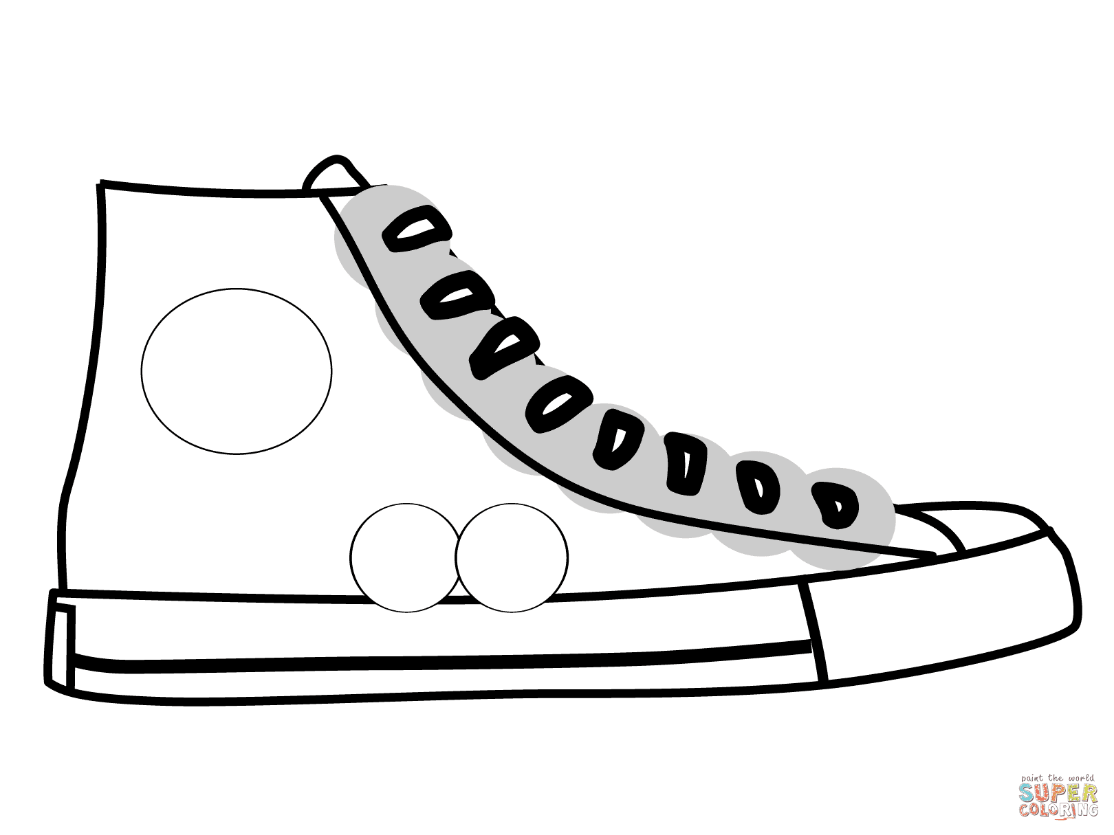 830 Top Coloring Pages Shoes Printable , Free HD Download