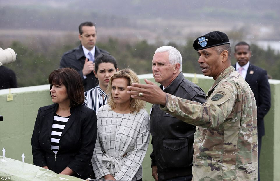 The visit carries a great deal of symbolism for Pence personally. His late father, Edward, served in the Army during the Korean War and was awarded the Bronze Star on April 15, 1953
