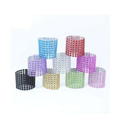 Cheap 9 Style 50Pcs/Lot Plastic diamond package napkin