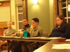 Norwich University students attend a LGBTQ Allies meeting.