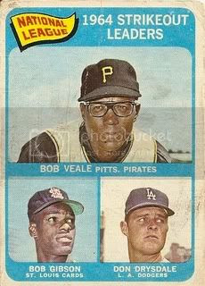 #12 NL Strikeout Leaders: Bob Veale, Bob Gibson, and Don Drysdale