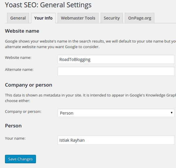 Your Website Info