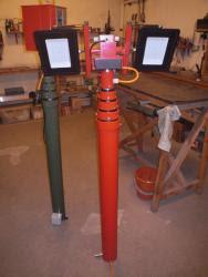 Производство мачт со спиральным кабелем внутри