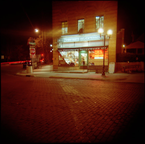 Zingerman's Deli at Night by anikarenina