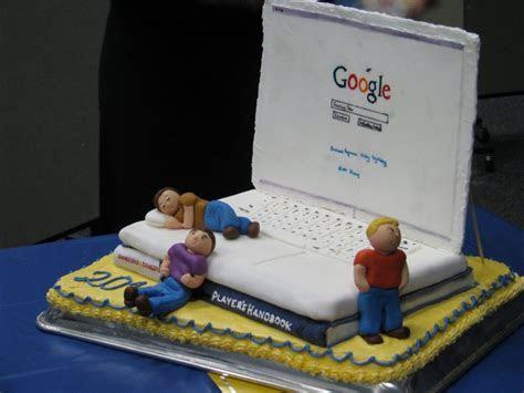 computer laptop google technology theme cakes cupcakes