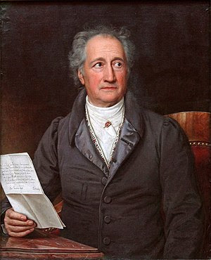 Johann Wolfgang von Goethe at age 69, painted ...