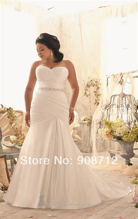 Plus Size Fit And Flare Wedding Dress Hot Sell Fit And