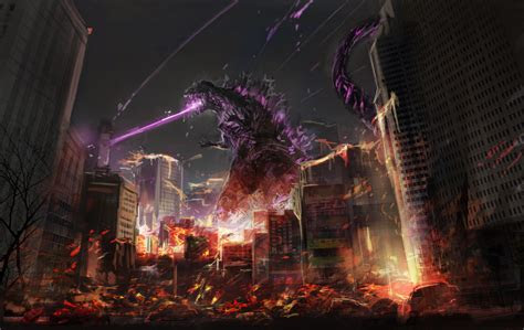 godzilla fan art hd artist  wallpapers images
