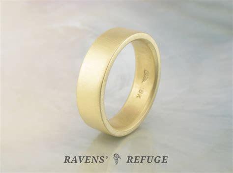 flat men?s wedding band, hand forged   Ravens' Refuge