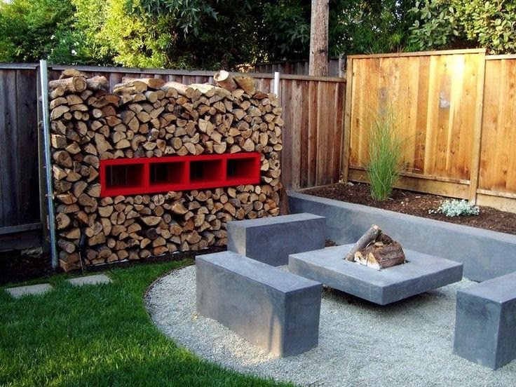 Backyard landscapes with fire pits