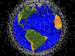 Detritos espaciais que orbitam a Terra (Foto: Nasa)
