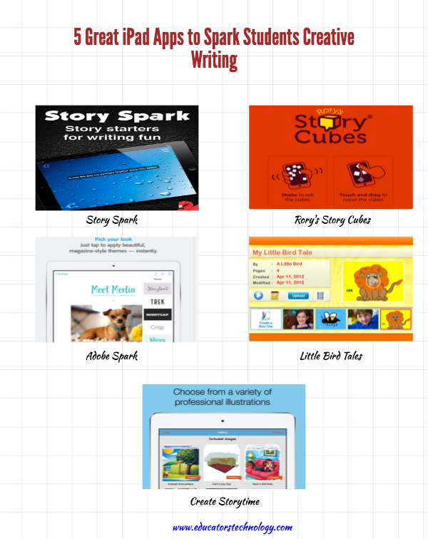 ipad apps to spark students creative writing