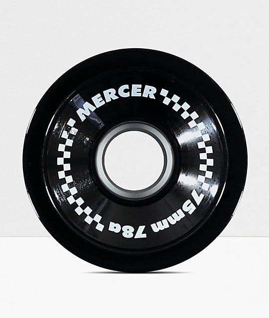 Mercer 75mm 78a Black Longboard Wheels at Zumiez : PDP