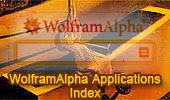 Wolfram Alpha Applications Index.