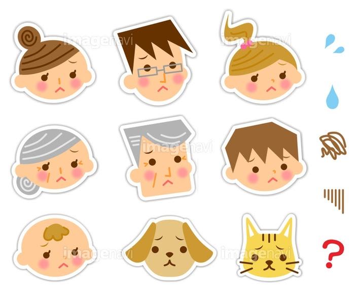 家族 アイコン 困り顔の画像素材31043195 イラスト素材なら