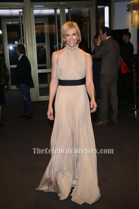 Toni Collette Champagne Evening Dress?A Long Way Down