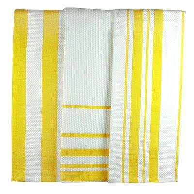 MU Kitchen MUincotton Dish Towel in Lemon Stripe   Wayfair
