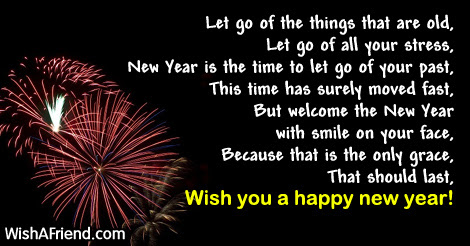 Let Go Of Things New Year Poem