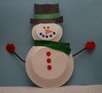 Papīra Šķīvis sniegavīrs