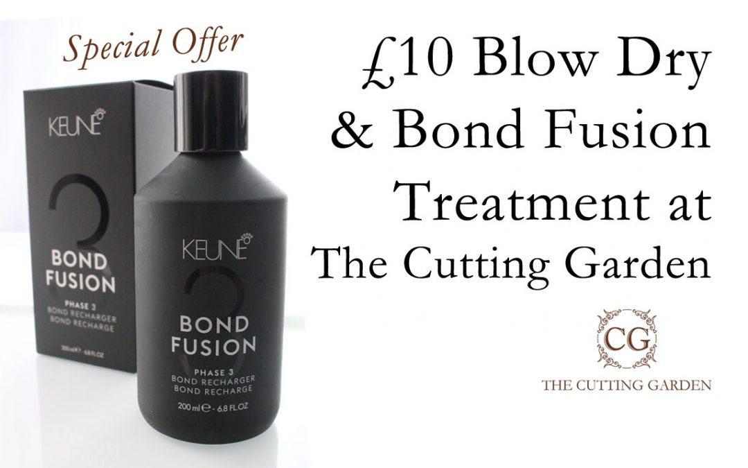 \u00a310 Blow Dry \u0026 Bond Fusion Treatment at The Cutting Garden  Cutting Garden Hair