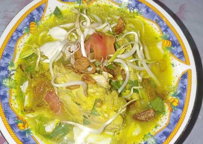 Resep Mudah Soto Ayam Kuning Anti Gagal