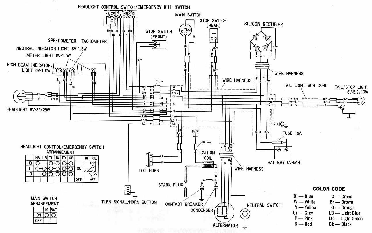 cb 750 1991 color wiring diagram