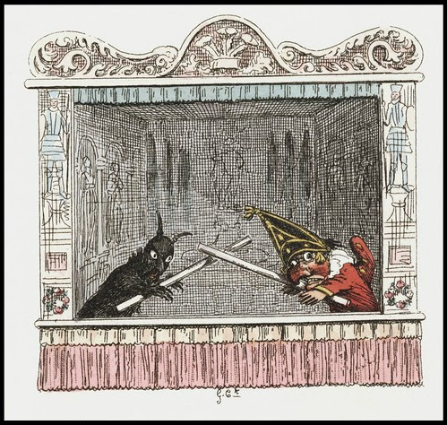 Punch and Judy by George Cruikshank, 1828 m