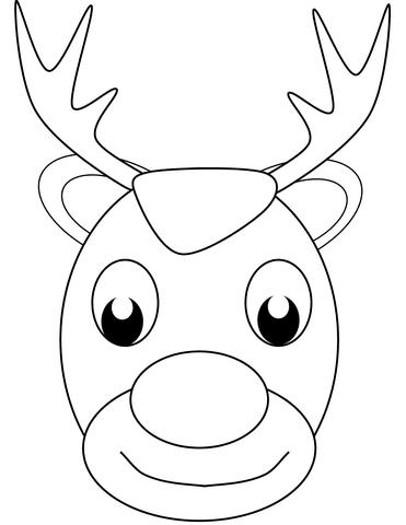 Dibujo De Cara De Reno De Navidad Para Colorear Dibujos Para