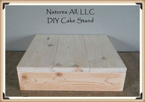 "14"" DIY Rustic Wedding Cake Stand/Country Wedding Cake"