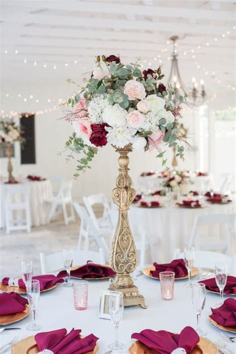 Add Some Navy To This Burgundy Garden Wedding at Cross