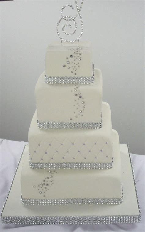 Sparkle Wedding Cakes on Pinterest   Bling Wedding Cakes