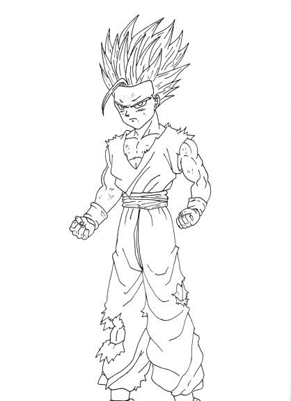 Dbz Coloring Pages At Getdrawingscom Free For Personal Use Dbz