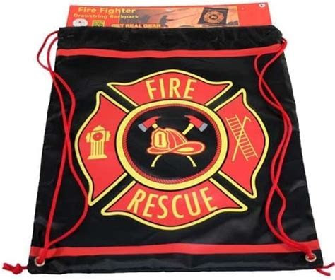 Firefighter Drawstring Backpack   Chicago Fire and Cop Shop