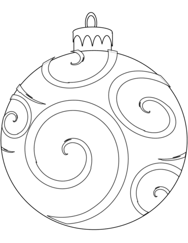 holiday ornament coloring page  free printable coloring pages