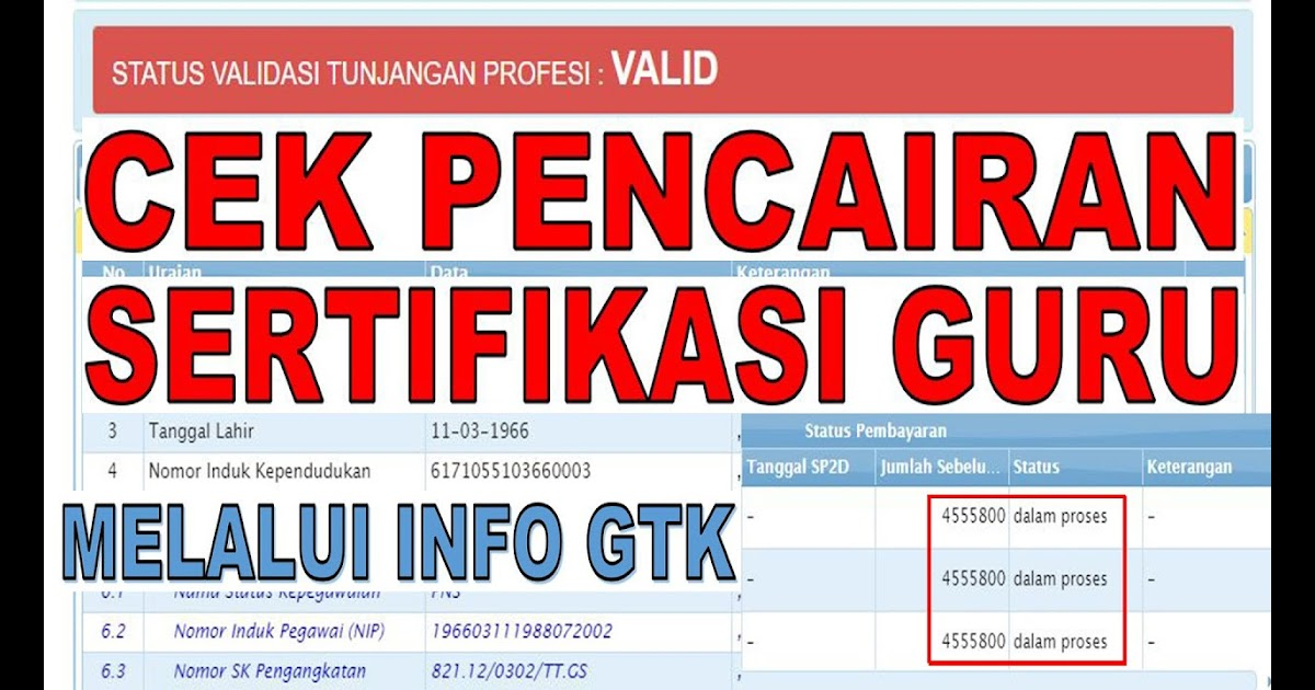 Tunjangan Sertifikasi Guru Triwulan 4 Kapan Cair 2019 ...