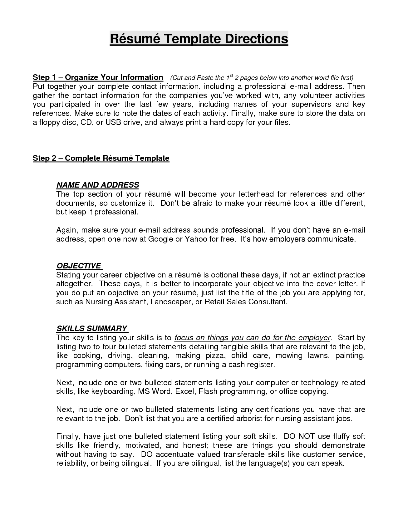 10 Sample Resume Objective Statements  SampleBusinessResume.com : SampleBusinessResume.com
