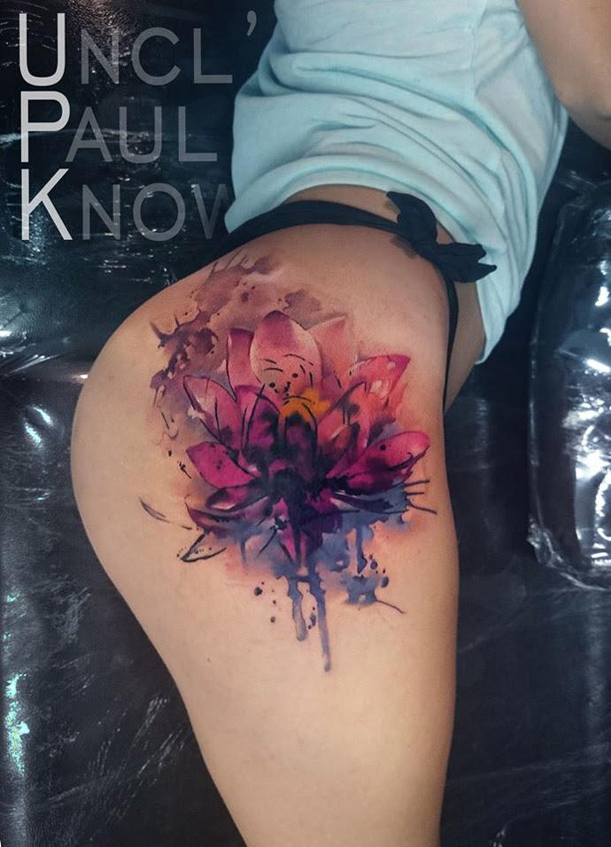 Lotus Flower On Girls Hip Best Tattoo Design Ideas