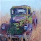 General Motors antique truck oil painting by BECKY JOY