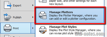 manage plotters autocad troubleshoot