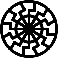 """A depiction of the """"Black Sun"""" the d..."""